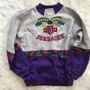 Vintage Girls Jordache Plaid Mockneck Sweatshirt